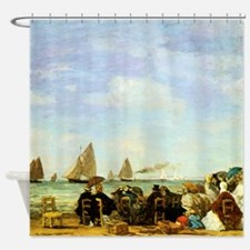Eugene Boudin Beach At Trouville Shower Curtain