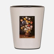 Jan Brueghel the Elder Vase Of Flowers Shot Glass