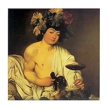 Caravaggio The Young Bacchus Tile Coaster
