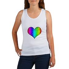 Rainbow Grunge Heart Women's Tank Top