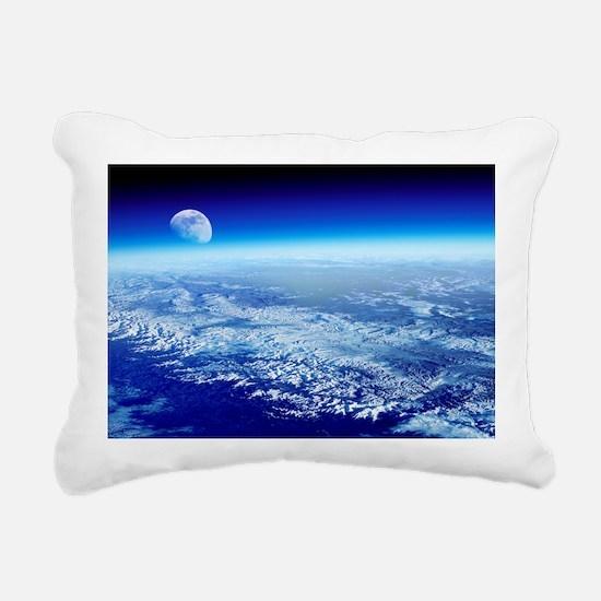 Moon rising over Earth's horizon - Pillow
