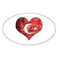 Turkish heart Decal