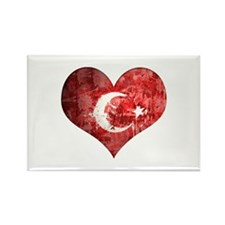 Turkish heart Rectangle Magnet (100 pack)