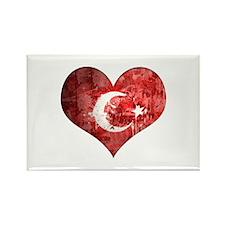Turkish heart Rectangle Magnet