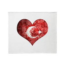Turkish heart Throw Blanket