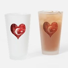 Turkish heart Drinking Glass
