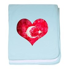 Turkish heart baby blanket