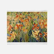 Maurice Prendergast Bed Of Flowers Throw Blanket