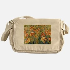 Maurice Prendergast Bed Of Flowers Messenger Bag