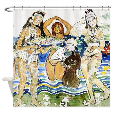 Maurice Prendergast Sea Maiden Shower Curtain