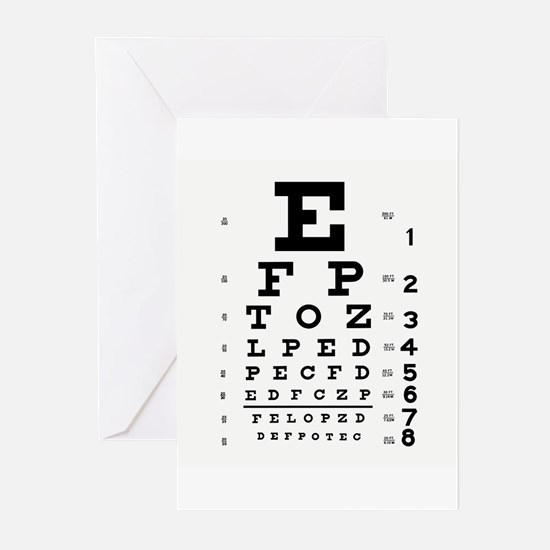 Eye Chart Greeting Cards (Pk of 20)