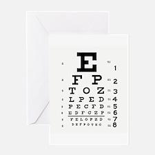 Eye Chart Greeting Card