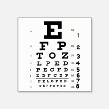 "Eye Chart Square Sticker 3"" x 3"""