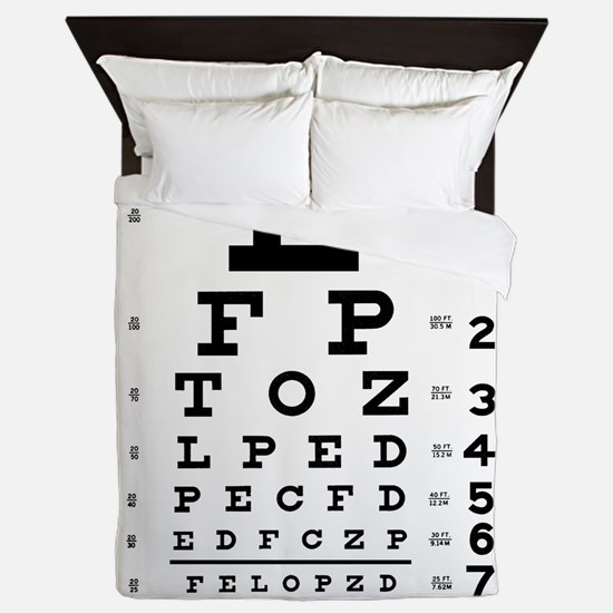 Eye Chart Queen Duvet