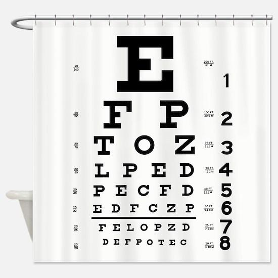 Eye Chart Shower Curtain