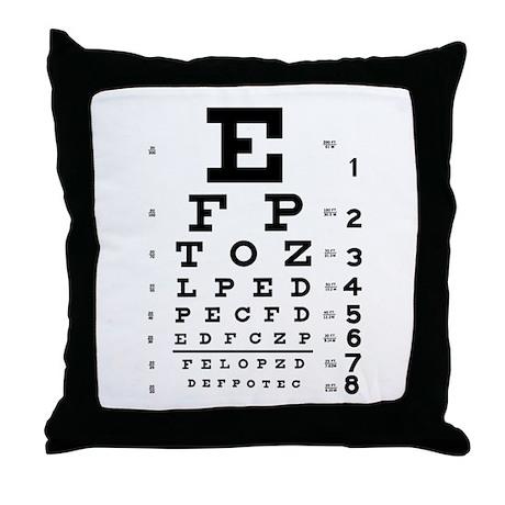 Eye Chart Throw Pillow by Poptopia1