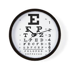 Eye Chart Wall Clock