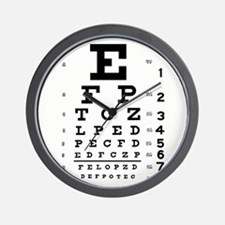 Eye Chart Wall Clock