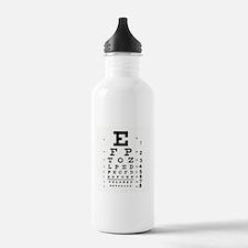 Eye Chart Water Bottle