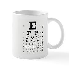 Eye Chart Small Mug
