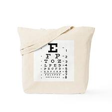 Eye Chart Tote Bag