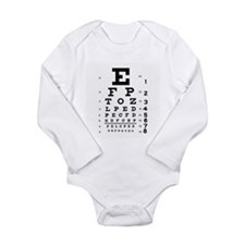 Eye Chart Long Sleeve Infant Bodysuit