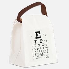 Eye Chart Canvas Lunch Bag