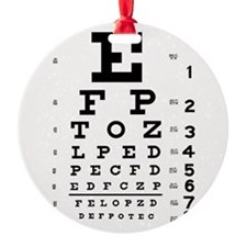 Eye Chart Ornament