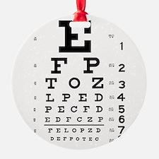 Eye Chart Ornament