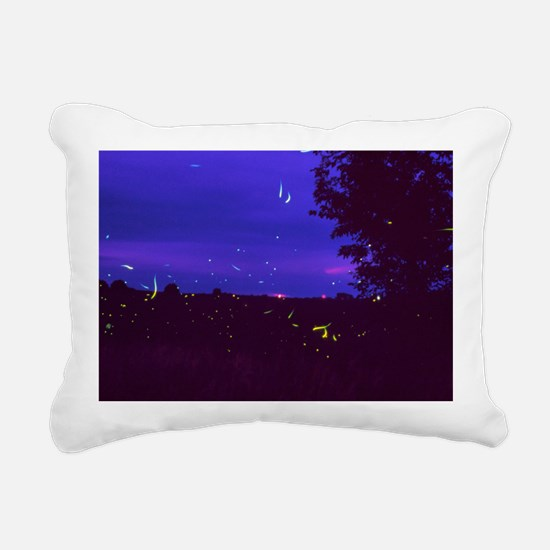 Fireflies over bean fields in Iowa - Pillow