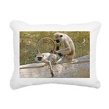 Langur monkeys grooming - Pillow