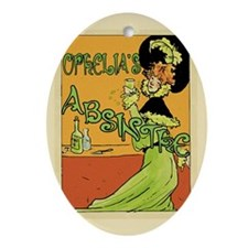 1890s Style Ophelia's Absinthe Ornament (Oval)