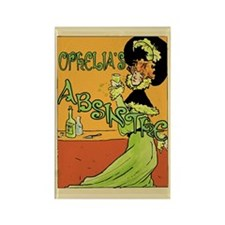 1890s Style Ophelia's Absinthe Rectangle Magnet