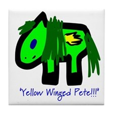 """""""Yellow Winged Pete!!!"""" Tile Coaster"""