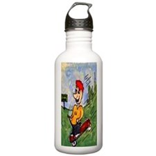 Red Wagon Trouble Water Bottle