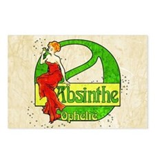 Red Dress Absinthe Ophelie Postcards (Package of 8