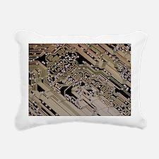 Printed circuit board, computer artwork - Pillow
