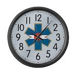 Colorado EMS Clock Brushed Large Wall Clock