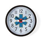 Colorado EMS Clock Brushed Wall Clock