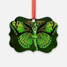 Green Fairy Wings Spread Ornament