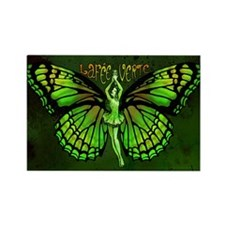 Green Fairy Wings Spread Rectangle Magnet