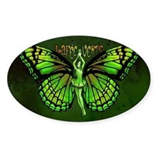 Green Fairy Wings Spread Decal
