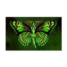 Green Fairy Wings Spread Rectangle Car Magnet