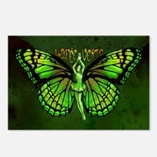Green Fairy Wings Spread Postcards (Package of 8)