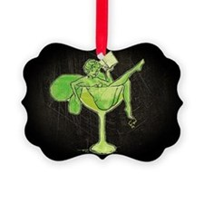 Absinthe Green Fairy In Glass Ornament