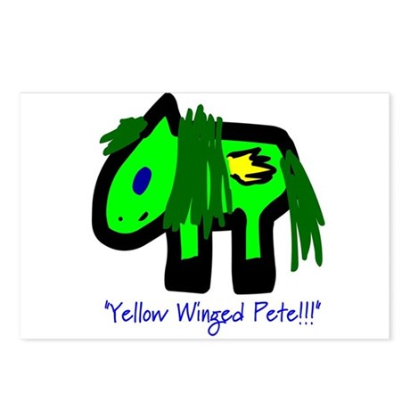 """""""Yellow Winged Pete!!!"""" Postcards (8)"""