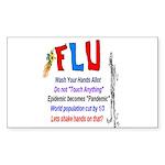 Flu Epidemic-Pandemic? Sticker (Rectangle)