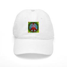 Abstract Peace Sign Baseball Cap