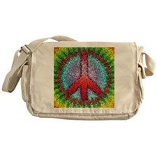 Abstract Peace Sign Messenger Bag
