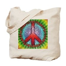 Abstract Peace Sign Tote Bag